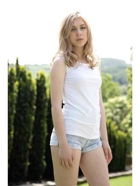 Dámske tielko z organickej bavlny široké ramienka