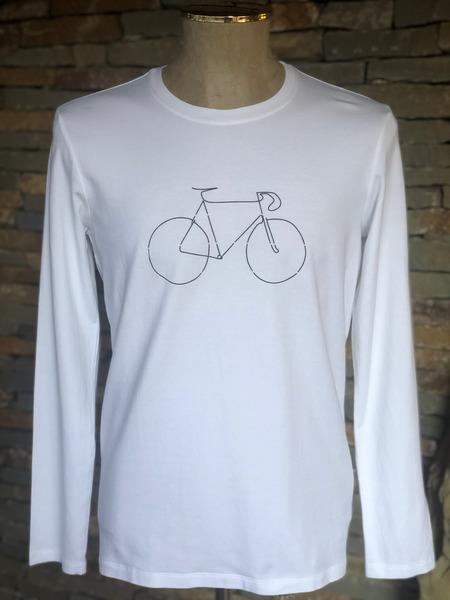 Pánske tričko z organickej bavlny BIKE dlhý rukáv